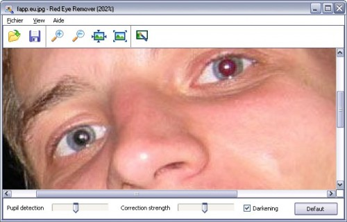 Red eye remover anti yeux rouges applications for Interieur yeux rouge