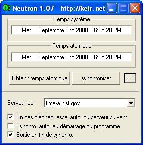 Neutron - Maintenez votre PC à l'heure