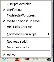 GreaseFire - Trouver tous les scripts GreaseMonkey d'une page