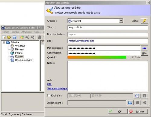 KeePass - Gestionnaire de mots de passe